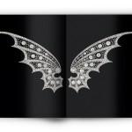 Diadème « deux ailes de dragons » diamants sur platine