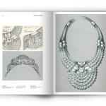 Croquis et dessins du diadème et du collier de diamants de la reine Nazli
