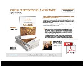 Télécharger le communiqué de presse Journal de grossesse de la Vierge Marie • Sophie Chauveau
