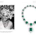 Elizabeth Taylor et son fabuleux collier d'émeraudes signé Bulgari offert par Richard Burton