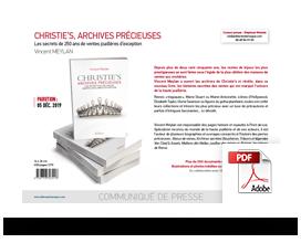 Télécharger le communiqué de presse Christie's Archives précieuses, les secrets de 250 ans de ventes joaillères d'exception • Vincent Meylan