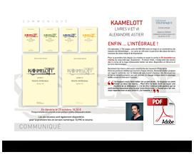 Télécharger le communiqué de presse Kaamelott – Livres 5 et 6 –texte intégral
