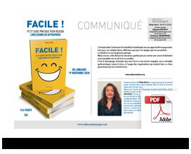 Communiqué de presse Facile, petit guide pratique de l'inclusion en entreprise