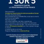 Quatrième de couverture de 1 sur 5, manifeste contre la pédocriminalité en France